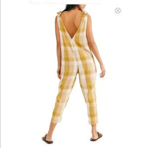 NWT Free People Don't You Want This Check Jumpsuit